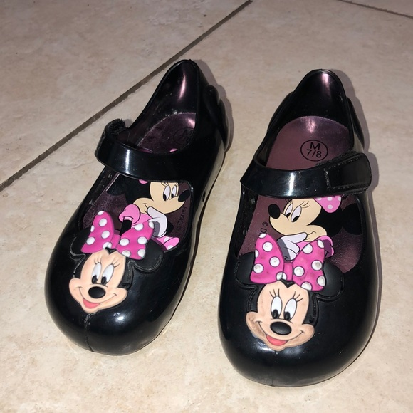 Disney Minnie Mouse Pink Little Girls Slip on Ballet Slippers Shoes Size 7//8 New